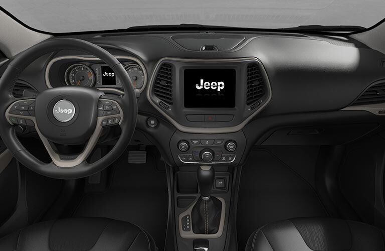 cockpit of 2018 jeep cherokee