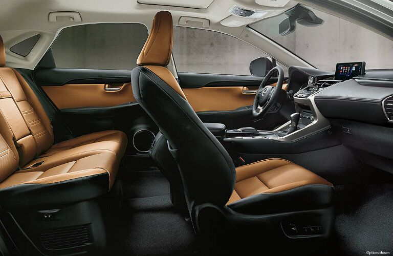 Two rows of seating and tech innovation inside Lexus NX