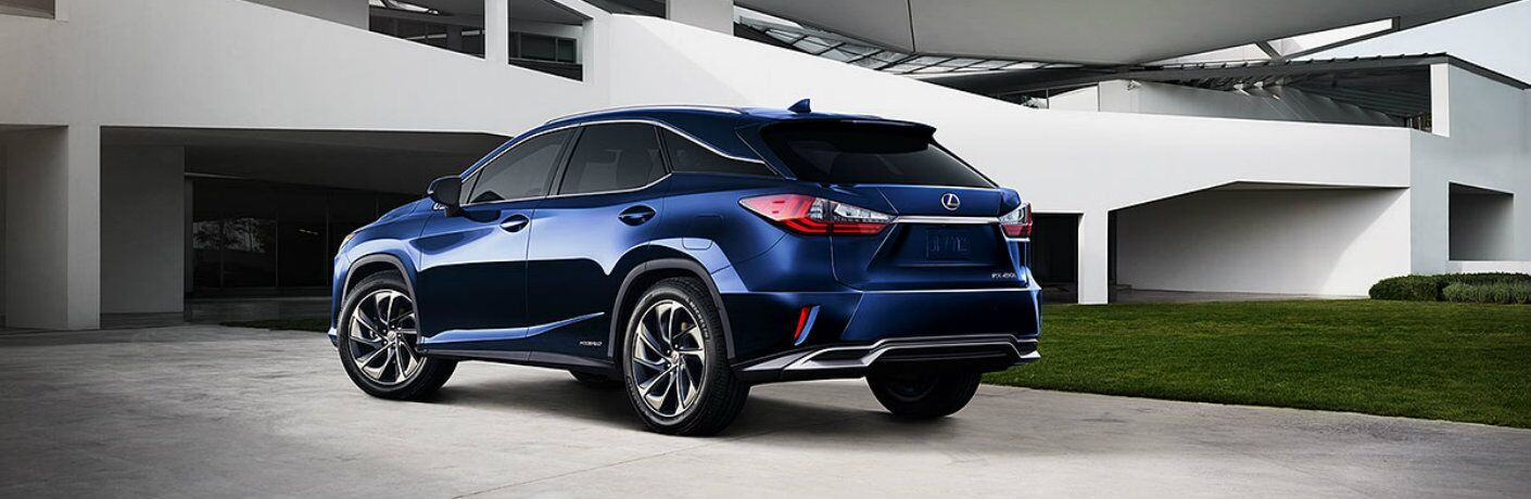 2015 Lexus RX 450 exterior back fascia and drivers side parked in front of building