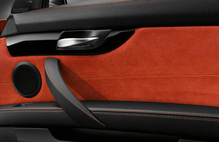 Black and Orange BMW Z4 Luxury Interior Design on Door Panel