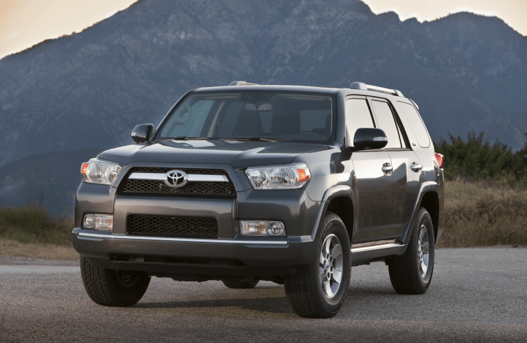 gray Toyota 4Runner front side view