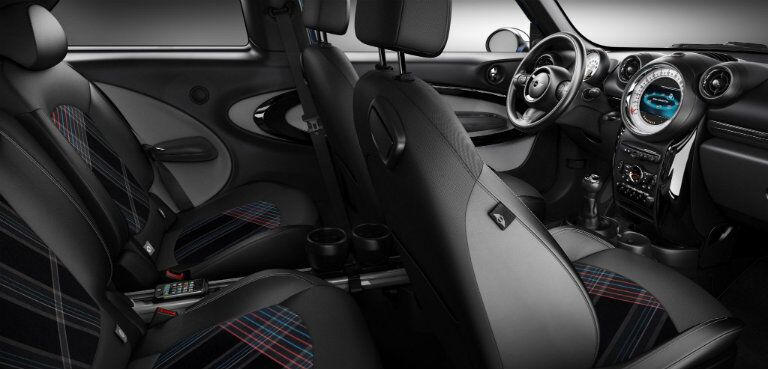 full interior shot of the MINI Cooper Paceman including all of the seats