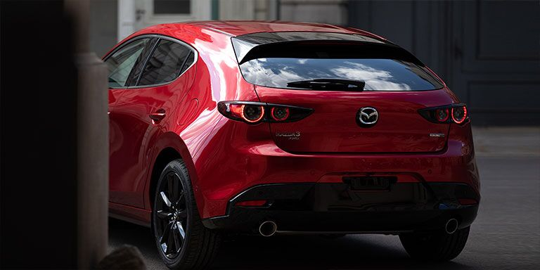 2019 Mazda3 view of the rear hatch