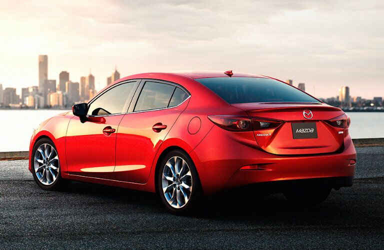 rear bumper design on the 2016 mazda 3