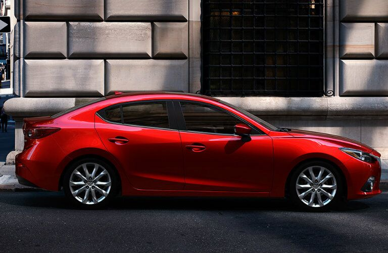 2016 mazda 3 exterior design features in red