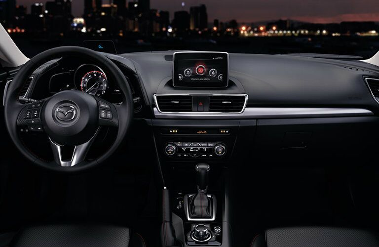2016 mazda 3 dashboard features with mazda connect infotainment