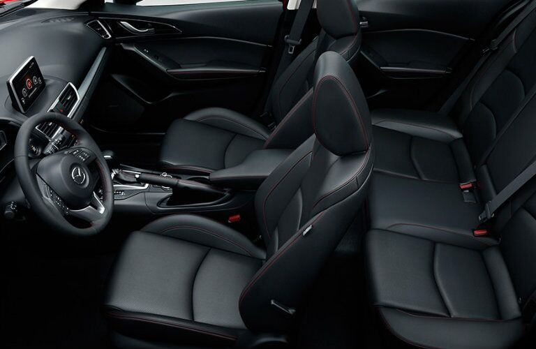 2016 mazda 3 front and rear legroom