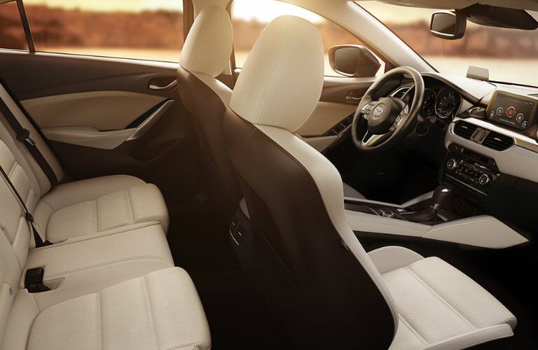 2016 mazda 6 with two tone black and white seat colors