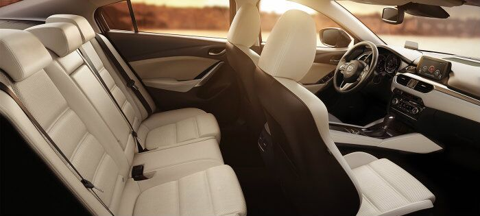 parchment leather seats in the 2016 mazda 6