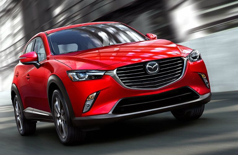 2016 mazda cx-3 exterior design in red paint color