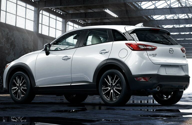 rear design on the 2016 mazda cx-3 in white