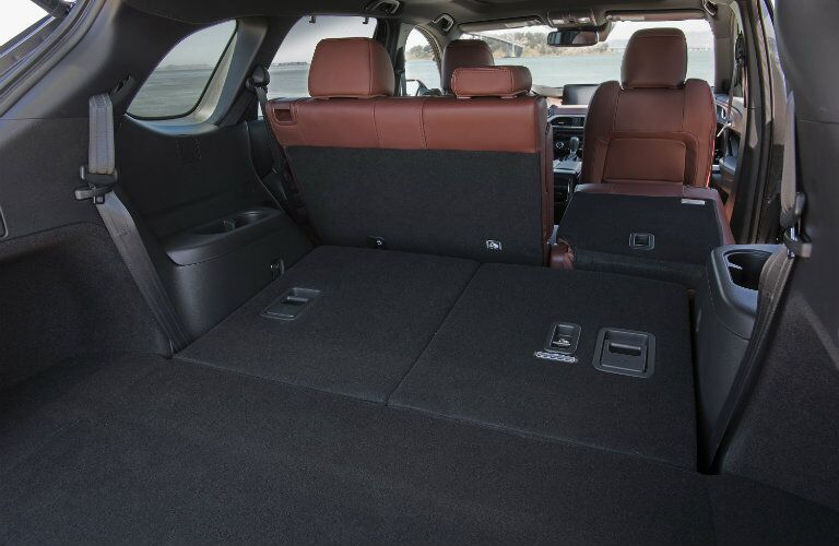 2016 mazda cx-9 cargo space with folding rear seats down