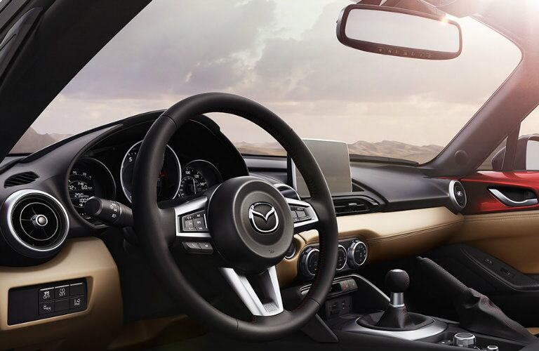 2016 mazda miata dashboard design and features