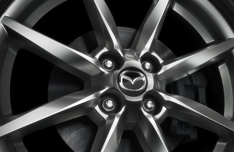 2016 mazda miata wheel design in gunmetal color