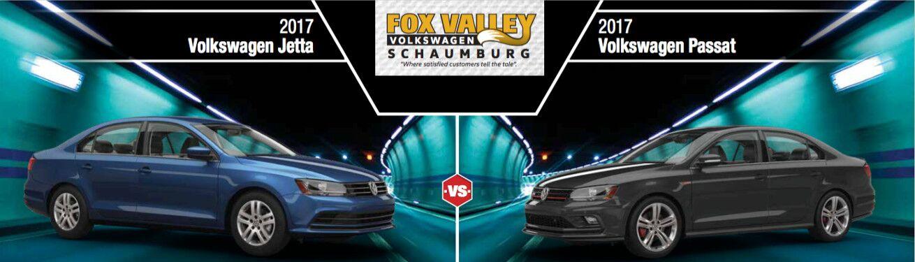 Jetta Vs Passat >> 2017 Vw Passat Vs 2017 Vw Jetta Fox Valley Vw Schaumburg