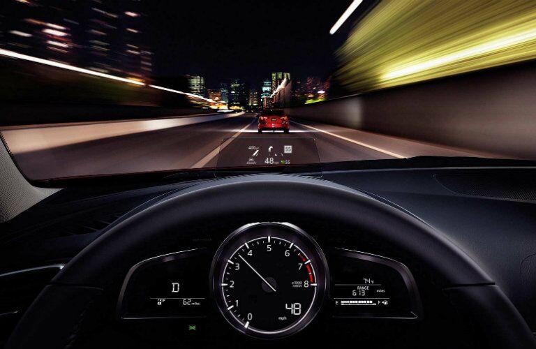 2017 Mazd3 Hatchback head up display