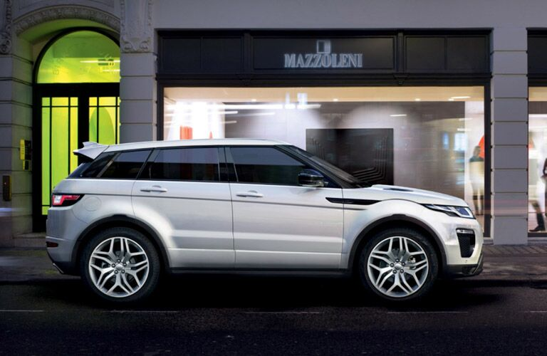 2016 Land Rover Range Rover Evoque side view white