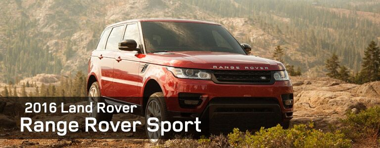 2016 Land Rover Range Rover Sport red front view