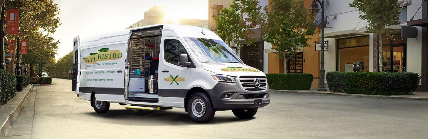 2019 Mercedes-Benz Sprinter Cargo Van side front view