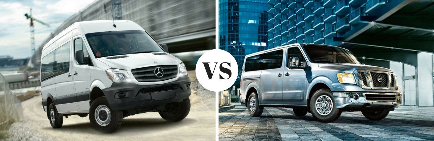 How does the Mercedes-Benz Sprinter Passenger Van compare to the 2016 Nissan NV Passenger Van?