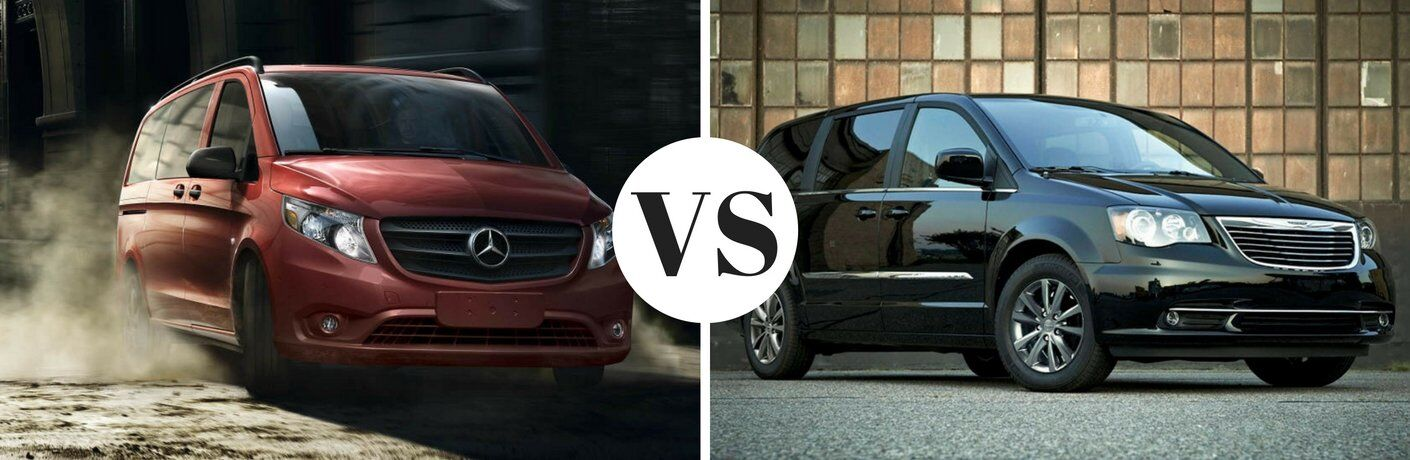 2016 Mercedes-Benz Metris Passenger Van vs 2016 Chrysler Town and Country