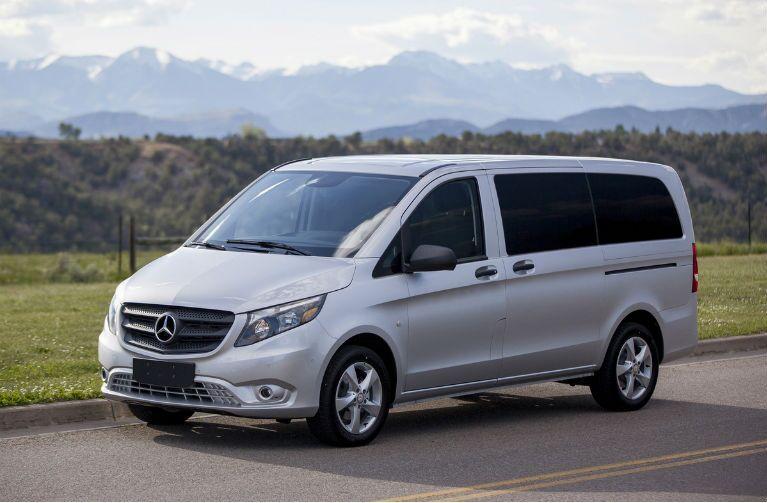 Mercedes-Benz Metris Passenger Van Silver Exterior