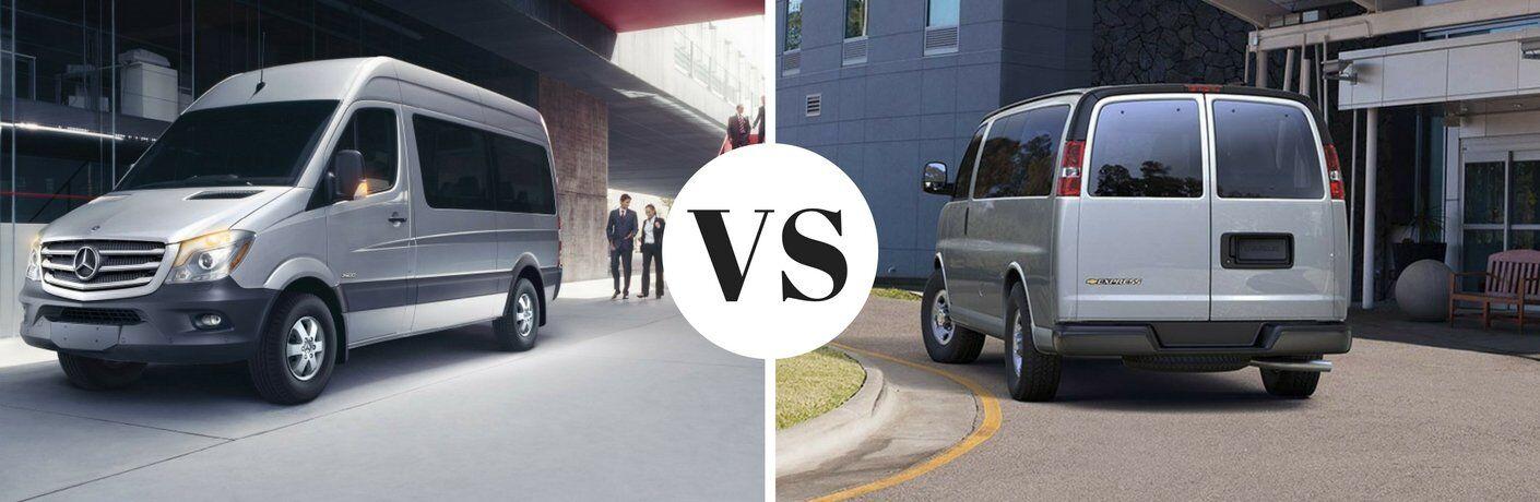 2017 Mercedes-Benz Sprinter Passenger Va vs 2017 Chevy Express Passenger Van