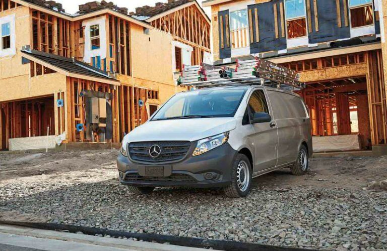 2017 mercedes-benz metris cargo van at construction site