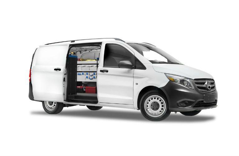 White Mercedes-Benz Metris Commercial Van