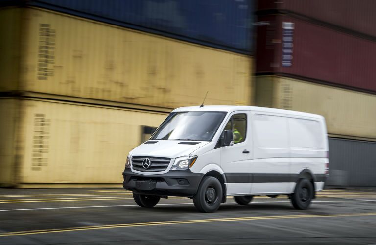 2017 mercedes-benz sprinter cargo van driving full view