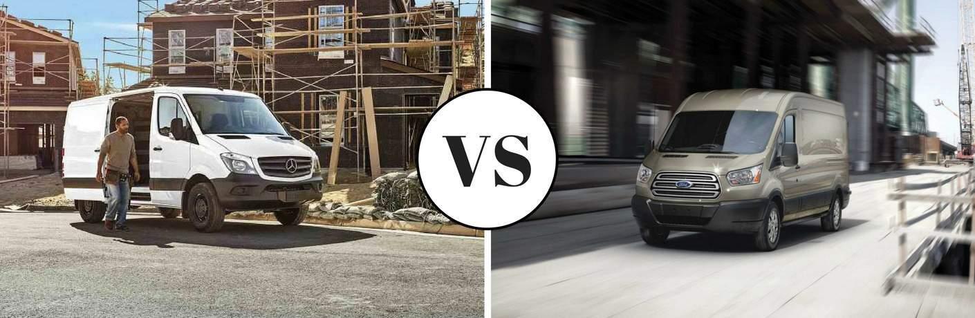2017 Mercedes-Benz Sprinter Cargo Van vs 2017 Ford Transit Cargo Van