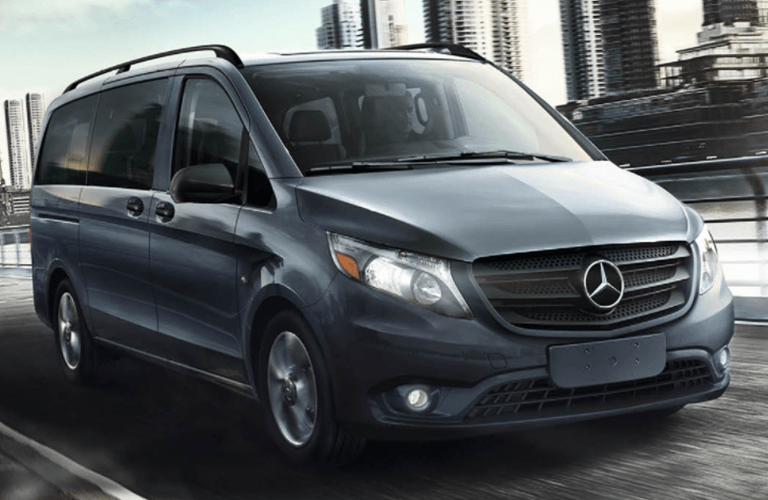 2018 mercedes-benz metris van front view while driving