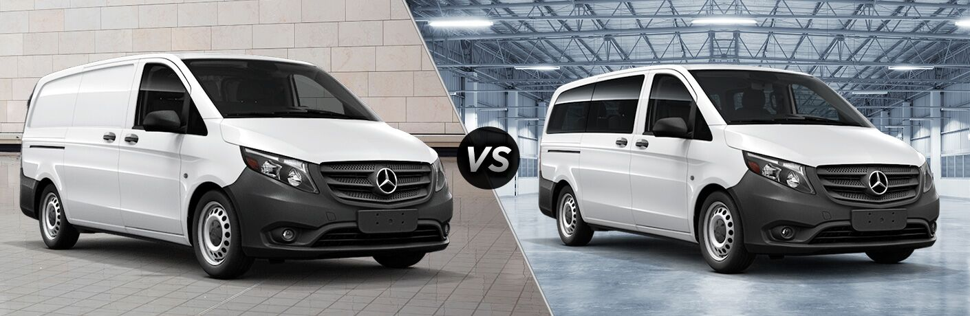 2018 Mercedes-Benz Metris WORKER Cargo Van 2018 Mercedes-Benz Metris WORKER Passenger Van side by side