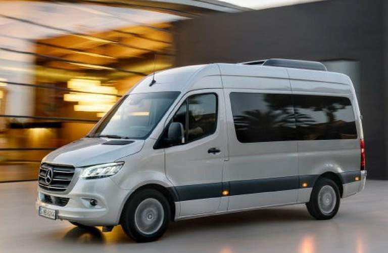2018 mercedes-benz sprinter full view parked