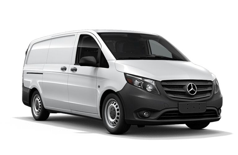 front view of white 2019 Mercedes-Benz Metris Passenger Van