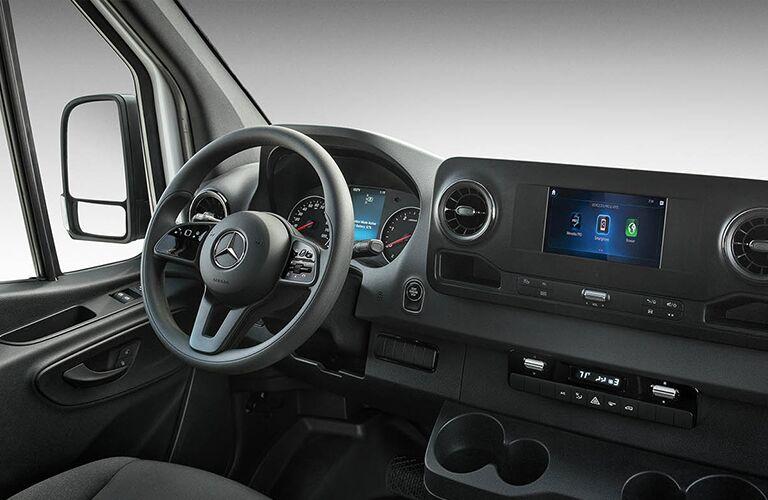 Interior front row of the 2020 Mercedes-Benz Sprinter Passenger Van 1500