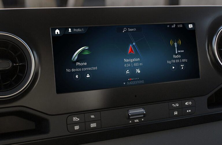 2020 Mercedes-Benz Sprinter 2500 Crew Van infotainment display
