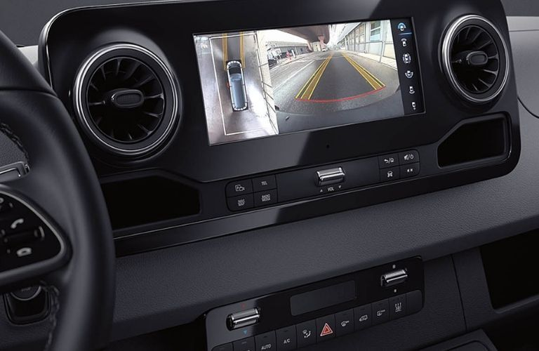 2020 Mercedes-Benz Sprinter 3500 Cargo Van rearview camera display