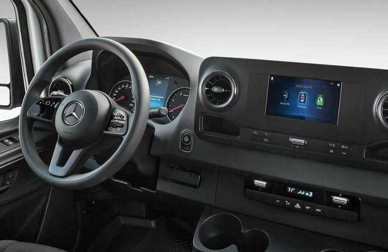 2020 Mercedes-Benz Sprinter 3500 Cargo Van steering wheel and dashboard