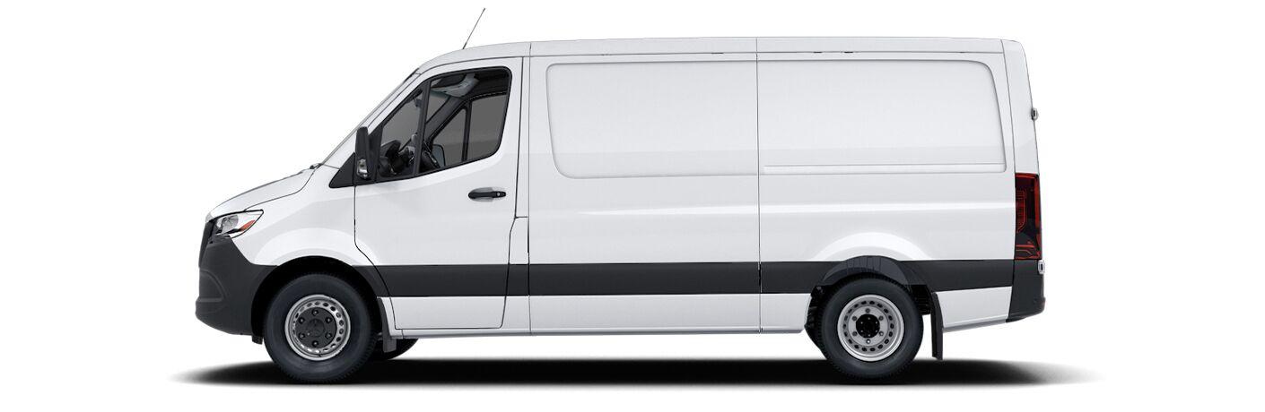 2021 Mercedes-Benz Sprinter side view on white