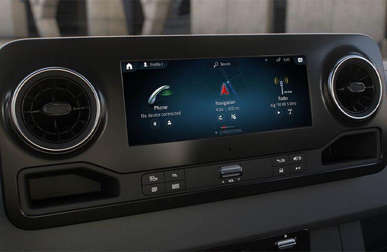 2021 Mercedes-Benz Sprinter 4500 Cargo Van display screen
