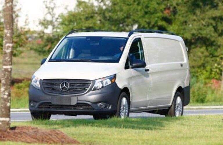 white 2020 Mercedes-Benz Metris Cargo Van front view