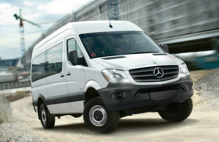 2017 mercedes-benz sprinter passenger van front view with grille