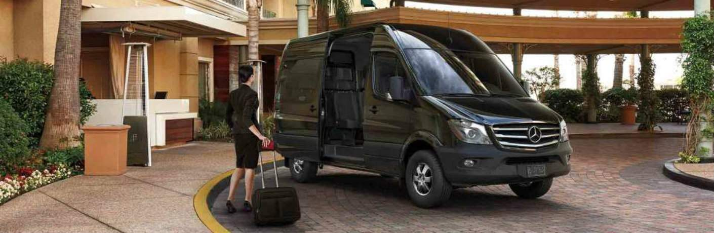 2017 mercedes-benz sprinter passenger van parked with one passenger