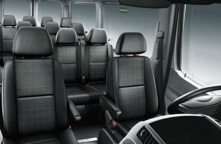 How many seats are in the Mercedes-Benz Sprinter Passenger Van?