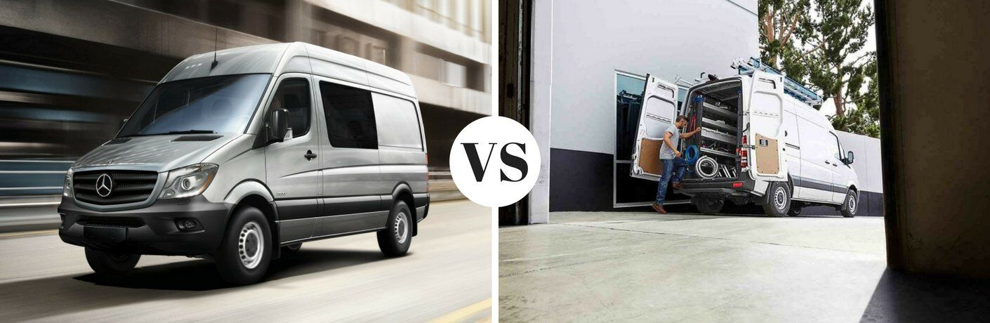 How does the Sprinter Crew Van compare to the Sprinter Cargo Van?