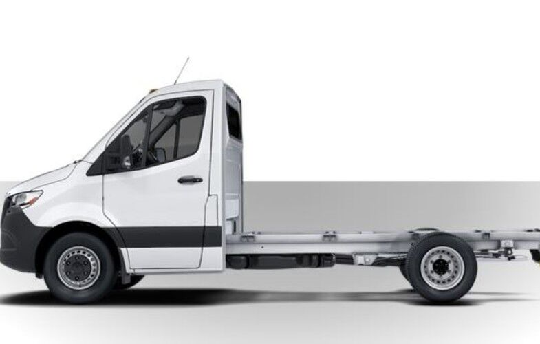 2019 Mercedes-Benz Sprinter Cab Chassis side view on white