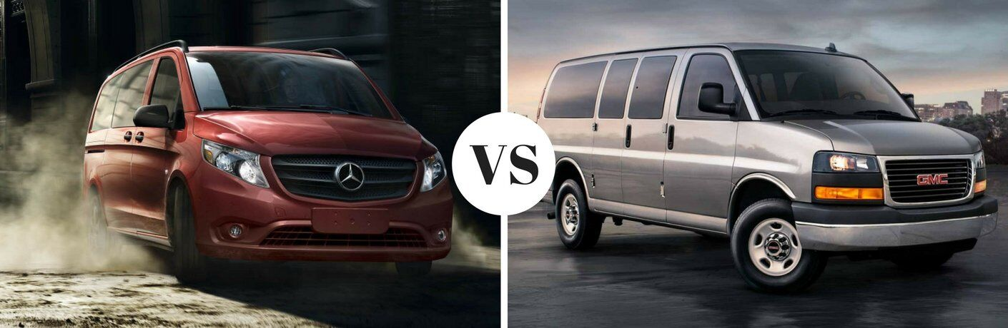 How does the Mercedes-Benz Sprinter compare to the GMC Savana?