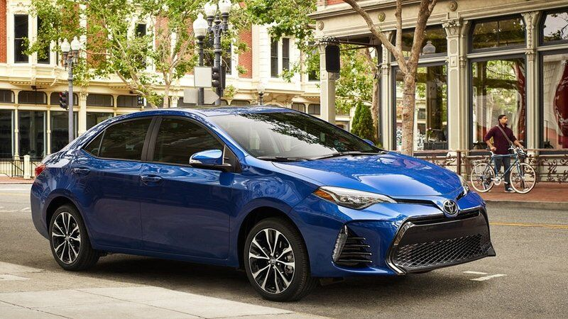 Image of a blue 2019 Toyota Corolla