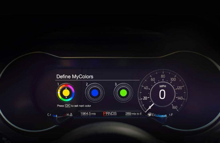 The LCD gauges of the 2018 Mustang can be highly customized
